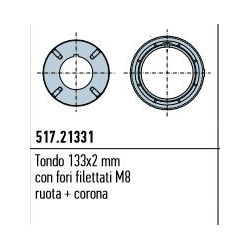 517.21331 NICE Adattatori serie Era XL Tondo 133x2 mm