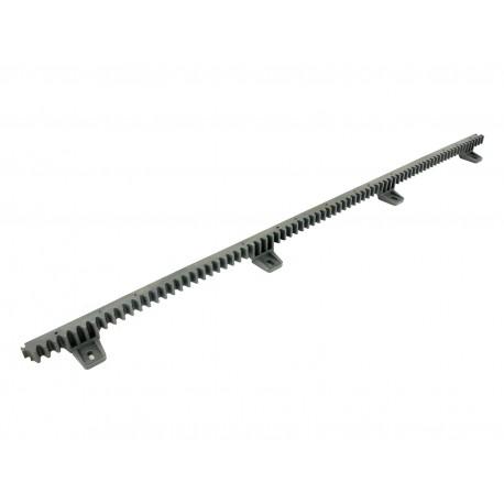 ROA6 NICE Cremagliera M4 25 x 20 x 1000 mm asolata in nylon con inserto metallico