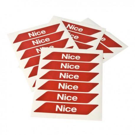 WA10 NICE Strisce rosse adesive catarinfrangenti