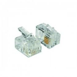 OVA2 NICE Connettori RJ14 tipo 6/4, per cavo piatto a 4 conduttori