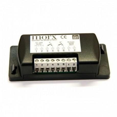 MORX NICE Decoder per 1 MOM oppure 4 MOT collegate in parallelo con memoria BM1000 per 255 combinazioni
