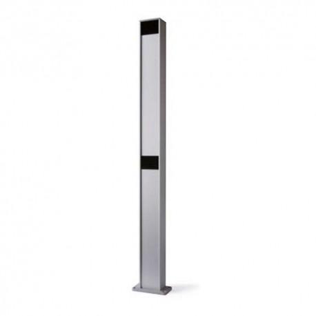 PPH2 NICE Colonna in alluminio con alloggiamento protetto per 2 fotocellule taglia Medium e Large - h 1000 mm