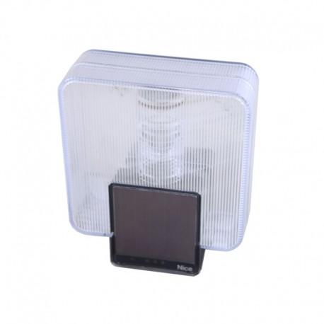 LLW NICE Luce lampeggiante wireless con pannello fotovoltaico integrato