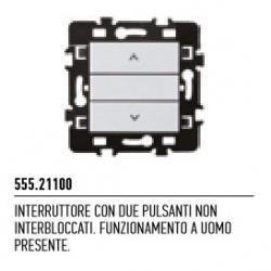 555.21100 NICE Interruttore con due pulsanti non interbloccati, funzionamento a uomo presente