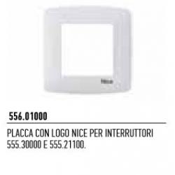 556.01000 NICE Placca con logo Nice per interruttori 555.30000 e 555.21100