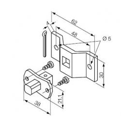 523.10012 NICE Kit Supporti serie Era S taglia Ø 35 mm Perno Quadro 10 mm