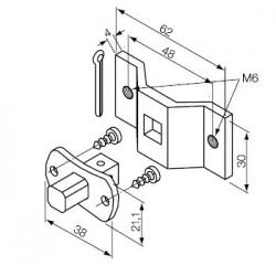 523.10012/M6 NICE Kit Supporti serie Era S taglia Ø 35 mm Perno Quadro 10 mm