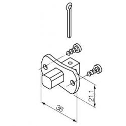 523.10013 NICE Kit Supporti serie Era S taglia Ø 35 mm Perno Quadro 10 mm