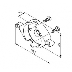 523.10014 NICE Kit Supporti serie Era S taglia Ø 35 mm Supporto in plastica