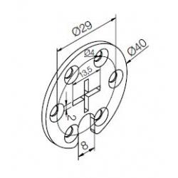 523.10015 NICE Kit Supporti serie Era S taglia Ø 35 mm Supporto circolare