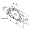 525.10052 NICE Kit Supporti serie Era S taglia Ø 35 mm Supporto in plastica ad incastro