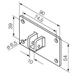 525.10074 NICE Kit Supporti serie Era S taglia Ø 35 mm Flangia 90x54