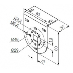 525.10075 NICE Kit Supporti serie Era S taglia Ø 35 mm Supporto bianco