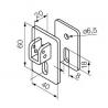 525.10087 NICE Kit Supporti serie Era S taglia Ø 35 mm Kit supporto con staffa e sella