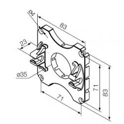 525.10088 NICE Kit Supporti serie Era S taglia Ø 35 mm Supporto in plastica ad incastro