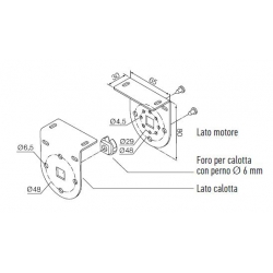 525.10070 NICE Kit per Tende a Rullo e Calotte Kit per Tende verticali, bianco