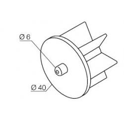575.12040 NICE Kit per Tende a Rullo e Calotte - Calotta con perno per rullo Ø 40 mm