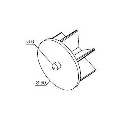 575.12050 NICE Kit per Tende a Rullo e Calotte - Calotta con perno per rullo