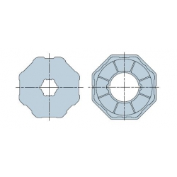 515.01020 NICE Adattatori serie Era M taglia Ø 45 mm Ottagonale 102x2,5