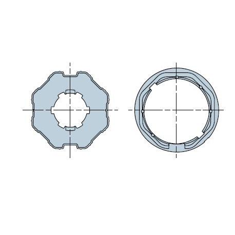 515.06000 Adattatori serie Era M taglia Ø 45 mm Ottagonale 60x(0,6÷1)