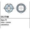 515.17100 Adattatori serie Era M taglia Ø 45 mm Ogiva 70