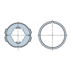 515.26400 NICE Adattatori serie Era M taglia Ø 45 mm Adattatore Tondo 64 con nervature