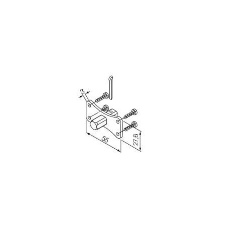 525.10013/AX Supporti serie Era M Ø 45 mm Perno quadro 10 mm