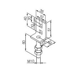 525.10020 NICE Supporti serie Era M Ø 45 mm Staffa a sella per perno quadro 10 mm