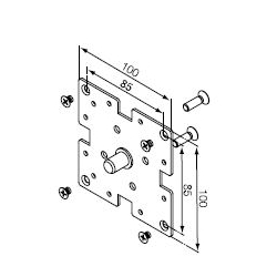 525.10044 NICE Supporti serie Era M Ø 45 mm Supporto a flangia 100x100