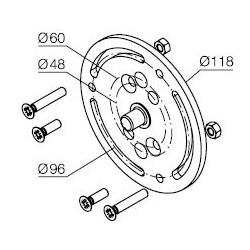 525.10019 NICE Kit supporti Era MH taglia M Ø 45 mm Supporto per tende