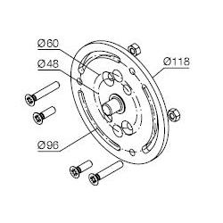 525.10019/80 NICE Kit supporti Era MH taglia M Ø 45 mm Supporto per tende laccato nero