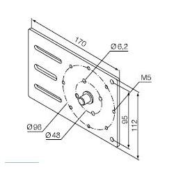 525.10021 NICE Kit supporti Era MH taglia M Ø 45 mm Supporto regolabile