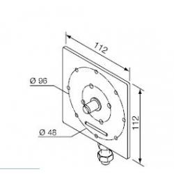 525.10047 NICE Kit supporti Era MH taglia M Ø 45 mm Supporto regolabile Ø 10 mm