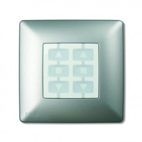WSA NICE OPLA Placca a parete quadrata, alluminio