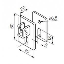 525.10087 NICE Kit supporti Era MH taglia M Ø 45 mm Kit supporto con staffa