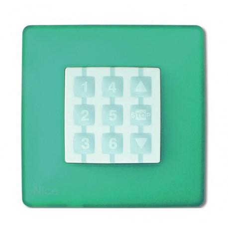 WSS NICE OPLA Placca a parete quadrata, verde acqua