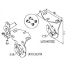 525.10071 NICE Kit per tende a rullo e calotte Kit per supporti bianchi