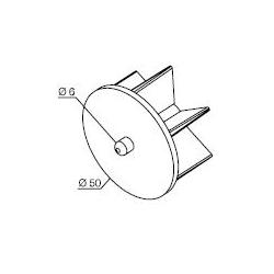 575.12050 NICE Kit per tende a rullo e calotte Calotta con perno per rullo Ø 50 mm