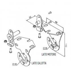 525.10072 NICE Kit per tende a rullo e calotte Kit supporti bianchi ad inserimento rapido