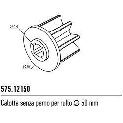575.12150 NICE Kit per tende a rullo e calotte Calotta senza perno