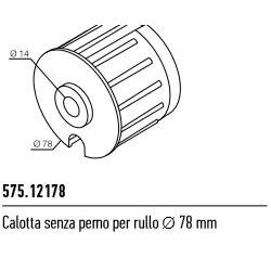575.12178 NICE Kit per tende a rullo e calotte Calotta senza perno