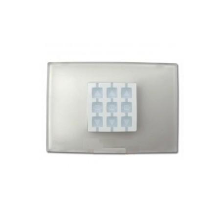 WRT NICE OPLA Placca a parete rettangolare, trasparente neutro
