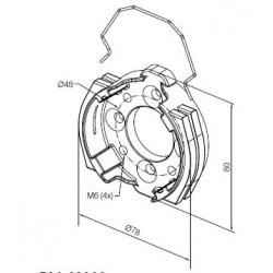 526.10002 NICE Adattatori Serie Era L Supporto in alluminio con 4 fori